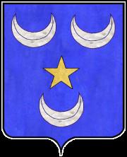 Blason porté par la famille Camus au domaine des Grandes Trêves à St-Genis-les-Ollières prés de Lyon en Rhône-Alpes